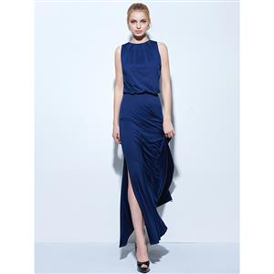Sexy Evening Dresses, Floor-Length Evening Dress, Buy Discount Dresses, Royalblue Evening Dress, Hot Silk Dresses,  Evening Dresses Cheap, #N14657