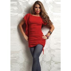 Elegant dress, Elegant Side Ruched Dress, rose Dress, #M6307