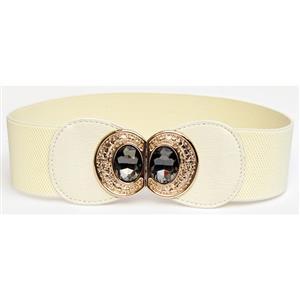 Metal Waist Belt, Buckle Fastening Waist Belt, Fashion Waist Belt, Elastic Waist Belt, Waist Belt for Women, #N15374
