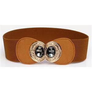Metal Waist Belt, Buckle Fastening Waist Belt, Fashion Waist Belt, Elastic Waist Belt, Waist Belt for Women, #N15376