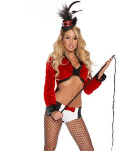 Deluxe Three Ring Hottie Costume, Sexy Circus Leader Costume, Women