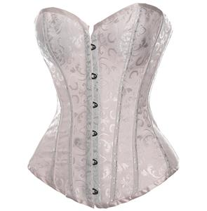 Embroidered satin Adult corset, Bridal Corsets, Satin Corsets, #N6178
