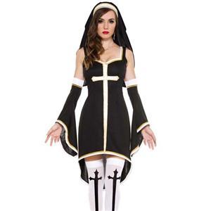 Erogenous Black Nun Costume N10509