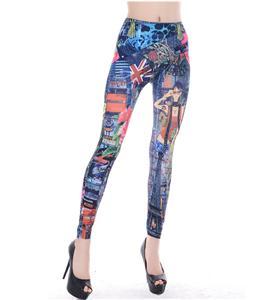 Retro Personality Legging, Sexy Retro Pants, European Personality Leggings, #L5349