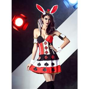 Evil Red Queen Costume, Evil Red Queen Adult Halloween Costume, Ladies Sexy Red Evil Queen Costume, Sexy Bunny Costume, #N11673