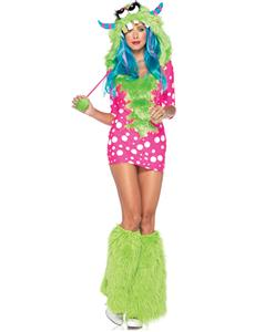 Exclusive Polly Pink Monster Costume, Exclusive Monster Costume, Pink Monster Halloween Costume, #N4438