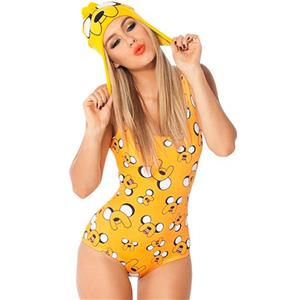 Eye-catching Jake Finn Cartoon Swimsuit N7688