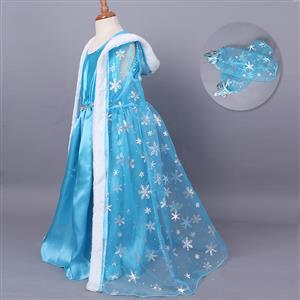Fairy Blue Frozen Elsa Cape Costume N9809
