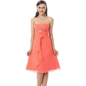 Coral Homecoming Dresses, Girls Dress, Women