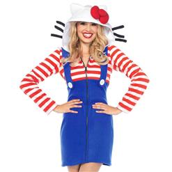 Sexy Halloween Cosplay Adult Costumes, Hello Kitty Cozy Cosplay Costumes, Hello Kitty Cozy Women