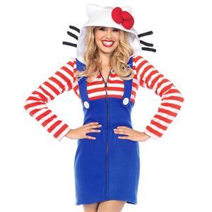 Sexy Halloween Cosplay Adult Costumes, Hello Kitty Cozy Cosplay Costumes, Hello Kitty Cozy Women