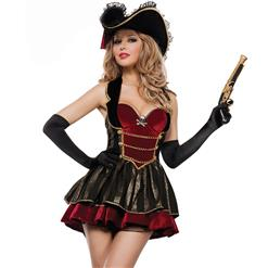 Fancy Pirate Booty Costume N10916