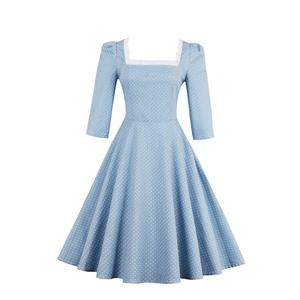 3/4 Length Sleeve, Vintage Dress for Women, Fashion Dresses for Women Cocktail Party, Casual tea dress, Swing Dress, #N14196