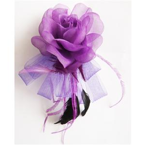 Fascinator Hair Clip, Clothes brooch, Rose headwear Hair Clip, # J7347