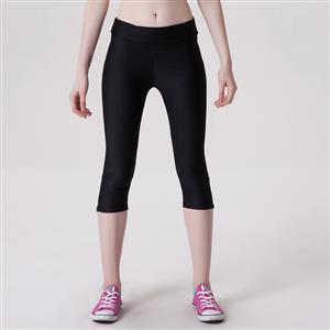 Fashion Stretchy Athletic Plain Capri Pants Workout Leggings Yoga Running Exercise L11711