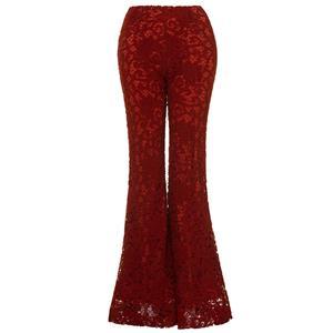 Full Length Bellbottoms, Fashion Bellbottoms, Lace Bellbottoms, Casual Bellbottoms, Solid Color Bellbottoms, Bellbottoms for Women, Slim Bellbottoms, #N15420
