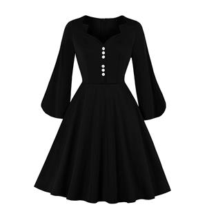 Retro Rockabilly Picnic Swing Dress, Vintage Belted Dress, Fashion Casual Office Lady Dress, Sexy Midi Dress, Retro Party Dresses for Women 1960, Vintage Dresses 1950