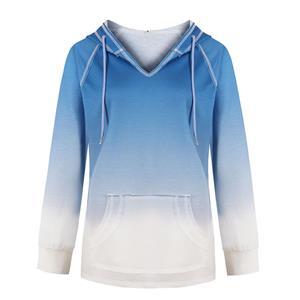 Loose Long Hoodie,Casual T-shirt Tops,Casual Long Sleeve Hoodie, Pullover Styling Hoodie,Women Casual T-shirt,Fashion T-shirt,Tie-dye Gradient T-shirt,Drawstring T-shirt Tops, #N20559