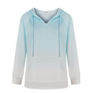 Loose Long Hoodie,Casual T-shirt Tops,Casual Long Sleeve Hoodie, Pullover Styling Hoodie,Women Casual T-shirt,Fashion T-shirt,Tie-dye Gradient T-shirt,Drawstring T-shirt Tops, #N20560