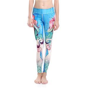 Classical Printed Yoga Pants, High Waist Tight Yoga Pants, 3D Digital Printed Fitness Pants, Casual Stretchy Sport Leggings, Women