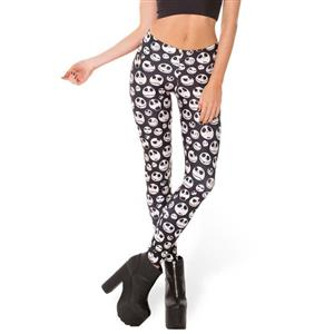 Fashion Lovely Skulls Print Halloween Leggings L10510