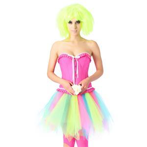 Sweety Overbust Corset Skirt Set, Sexy Corset Skirt Set, Lovely Corset for Women,Sexy Overbust Corset,Sexy Pink Overbust Corset,Pink Ruffles Corset, Party Corset Sets, Candy Corset Sets, #N20219