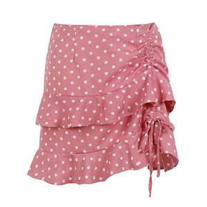 Daily Casual Mini Skirt, OL Wrap Skirt, Cute Ruffle Skirt, Yarn Skirt, Elastic Skirt, Sexy Wrap Skirt, Yarn Fabric Multi-layered Skirt, Girl