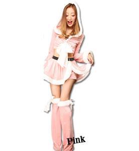 Fashion Pink Christmas Pantskirt, Cheap Pink Short Christmas Tops, Comfortable Pink Christmas Outfit, #XT9803