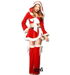 Fashion Red Christmas Pantskirt, Cheap Red Short Christmas Tops, Comfortable Red Christmas Outfit, #XT9801