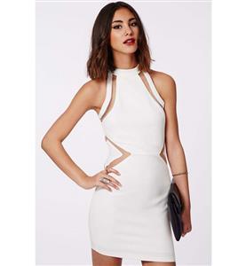 Sexy White Mini Dress, Fashion Ladies Dress, Cheap White Dress, #N10179