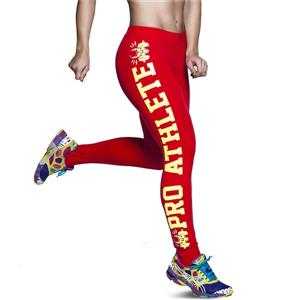 Fashion Red Leggings for Yoga Running Workout Exercise L12734