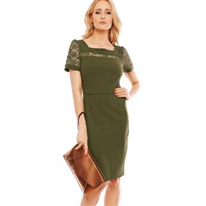 Summer Bodycon Dresses for Women, Army Green Bodycon Dress, Casual Dress for Women, Fashion Dress for Women, Solid Color Dress, Office Lady Bodycon Dress, #N14573