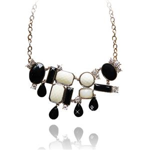 Fashion Vintage Womens Necklace, Party Statement Pendant Necklace, Pearl Necklace, #J7433