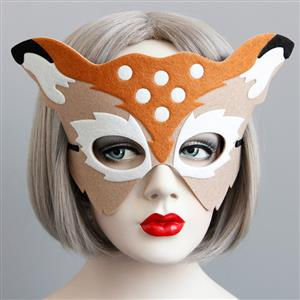 Halloween Masks, Costume Ball Masks, Masquerade Party Mask, Adult and Child Mask, Half Mask, Animal Masks, #MS13010