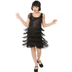 Flapper Child Halloween Costume, Girls Black Flapper Costume, Flapper Black Girls Kids Entire Costume, #N5992