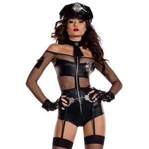Flirting Policewoman Uniform Adult Role Play Sexy Cop Cosplay Costume N18183
