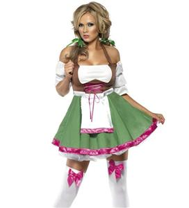 Flirty Frauline Costume, Beer Girl Costume, Sexy Oktoberfest Costume for Women, #N5490