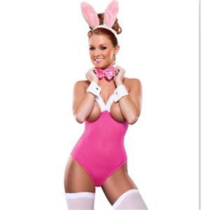 Flirty Open Bra Pink Bunny Teddy Lingerie N11701