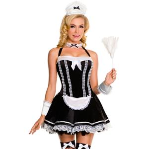 Flirty Servant Maid Costume, French Maid Outfit, Sexy French Maid Costume, #N7677