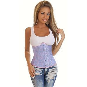 Underbust Corset, Floral Brocade Corset, Embroidered underbust corset, #N2240
