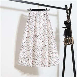 Fashion Long A-Line Skirt, Sexy High Waist Flared Skirt for Women, Fashion Floral Print Flared Long Skirt, Casual Flower Print A-Line Skirt, Retro Casual Printed A-Line Skirts, #N21043
