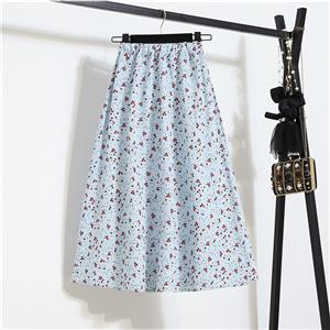 Fashion Long A-Line Skirt, Sexy High Waist Flared Skirt for Women, Fashion Floral Print Flared Long Skirt, Casual Flower Print A-Line Skirt, Retro Casual Printed A-Line Skirts, #N21044