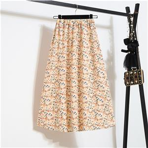 Fashion Long A-Line Skirt, Sexy High Waist Flared Skirt for Women, Fashion Floral Print Flared Long Skirt, Casual Flower Print A-Line Skirt, Retro Casual Printed A-Line Skirts, #N21045