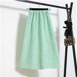 Fashion Long A-Line Skirt, Sexy High Waist Flared Skirt for Women, Fashion Floral Print Flared Long Skirt, Casual Flower Print A-Line Skirt, Retro Casual Printed A-Line Skirts, #N21046