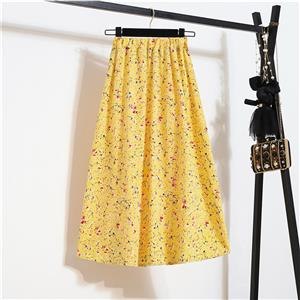 Fashion Long A-Line Skirt, Sexy High Waist Flared Skirt for Women, Fashion Floral Print Flared Long Skirt, Casual Flower Print A-Line Skirt, Retro Casual Printed A-Line Skirts, #N21047