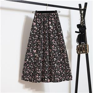 Fashion Long A-Line Skirt, Sexy High Waist Flared Skirt for Women, Fashion Floral Print Flared Long Skirt, Casual Flower Print A-Line Skirt, Retro Casual Printed A-Line Skirts, #N21052