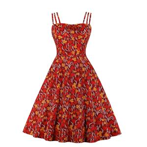 Lovely Floral Print Dress, Floral Print Cocktail Party Dress, Fashion Casual Office Lady Dress, Sexy Swing Dress, Plus Size Dress, Sexy OL Dress, Cocktail Party Dresses for Women, Sexy Spaghetti Straps Dress for Women, #N20285