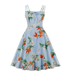 Lovely Floral Print Dress, Floral Print Cocktail Party Dress, Fashion Casual Office Lady Dress, Sexy Swing Dress, Plus Size Dress, Sexy OL Dress, Cocktail Party Dresses for Women, Sexy Spaghetti Straps Dress for Women, #N20271