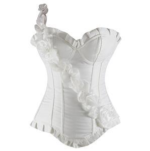 Floral Strap Underwire Corset, Bride Corset, floral Corset, #N1983