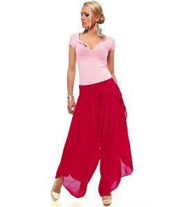 wrap-style harem pants & top, Flowing Wrap Fuchsia Pants, Aladin Harems Set, #N5812